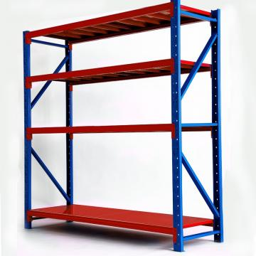 Steel material warehouse rack medium duty storage shelf for factory