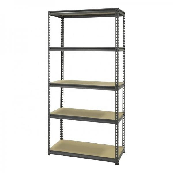 Steel and wood combined supermarket shelf store display shelving